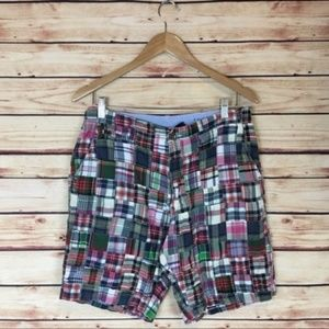 J. Crew Men's Patchwork Plaid Field Shorts Size 30